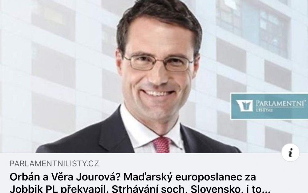 Orban and Věra Jourová? – Márton Gyöngyösi was interviewed by the ParlamentniListy.cz